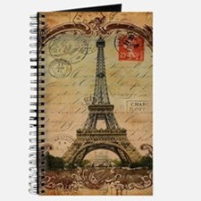 vintage scripts postage paris eiffel tower Journal