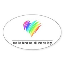 Celebrate Diversity - Oval Decal