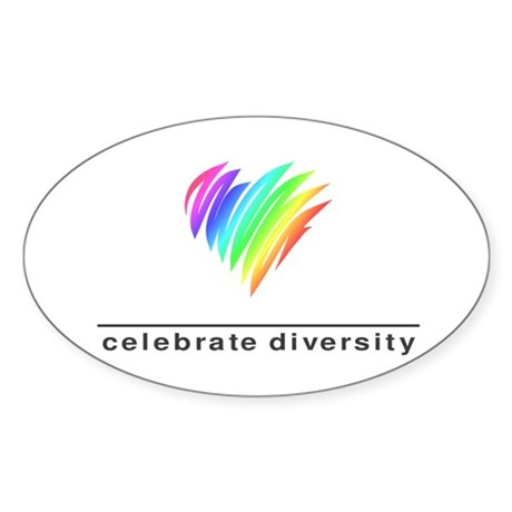 Celebrate Diversity - Oval Sticker
