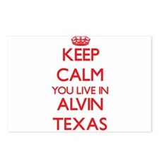 Keep calm you live in Alv Postcards (Package of 8)