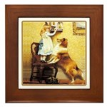 Sheltie Framed Tile