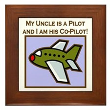 Uncle's Co-Pilot Airplane Framed Tile
