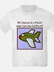 Uncle's Co-Pilot Airplane T-Shirt