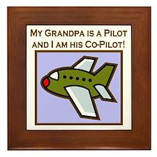 Grandpa's Co-Pilot Airplane Framed Tile
