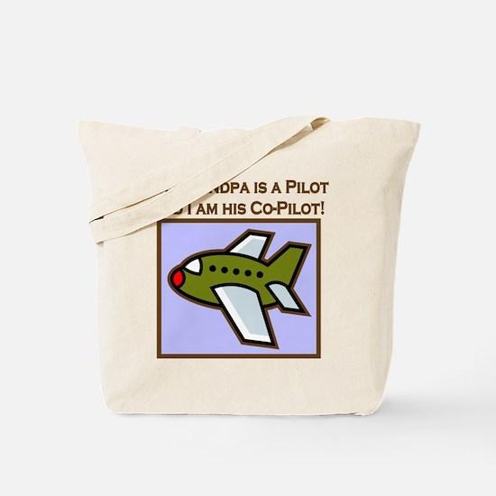 Grandpa's Co-Pilot Airplane Tote Bag