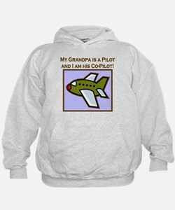 Grandpa's Co-Pilot Airplane Hoodie