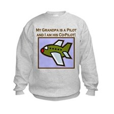 Grandpa's Co-Pilot Airplane Sweatshirt