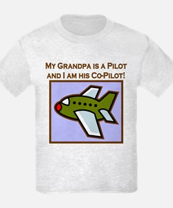Grandpa's Co-Pilot Airplane T-Shirt