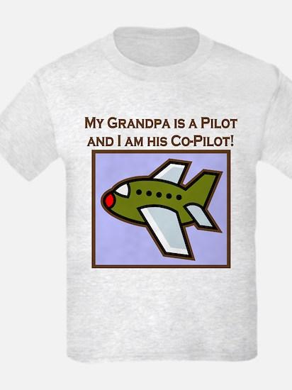 Grandpa's Co-Pilot Airplane T-Shirt