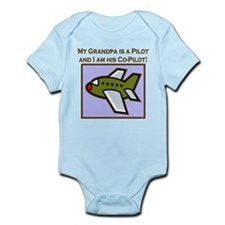 Grandpa's Co-Pilot Airplane Onesie
