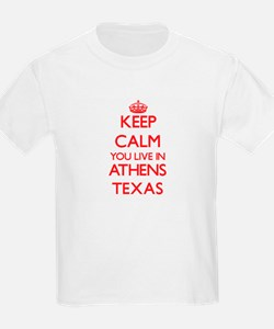 Keep calm you live in Athens Texas T-Shirt