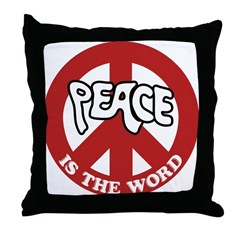 Peace is the word Throw Pillow