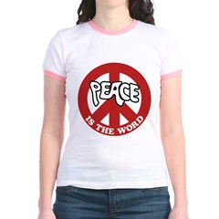 Peace is the word Jr. Ringer T-Shirt