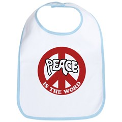 Peace is the word Bib