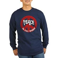 Peace is the word Long Sleeve Dark T-Shirt