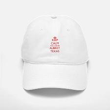 Keep calm you live in Aubrey Texas Baseball Baseball Cap