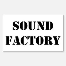 Sound Factory Rectangle Decal