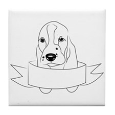 Basset Head Tile Coaster