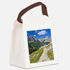 Dolomiti - footpath in Val Badia Canvas Lunch Bag