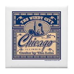 Chicago Box Design Tile Coaster