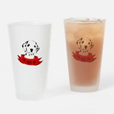 Fire House Dog Drinking Glass
