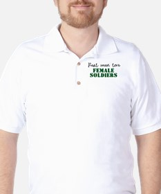 Real men love female soldiers T-Shirt