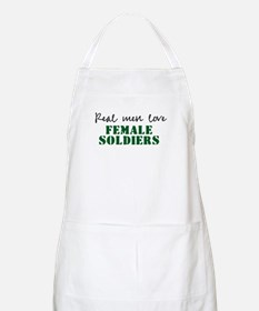Real men love female soldiers BBQ Apron