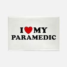 I Love My Paramedic Rectangle Magnet