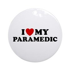 I Love My Paramedic Ornament (Round)