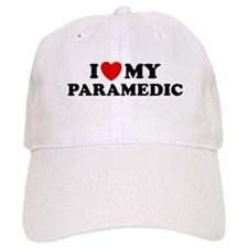 I Love My Paramedic Baseball Cap