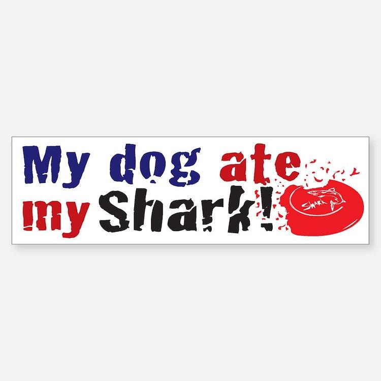 Dogshark Bumper Bumper Bumper Sticker