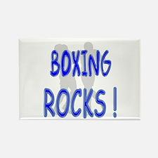 Boxing Rocks ! Rectangle Magnet