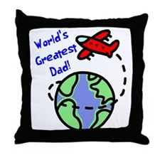 World's Greatest Dad Throw Pillow