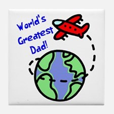 World's Greatest Dad Tile Coaster