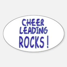 Cheer Leading Rocks ! Oval Decal