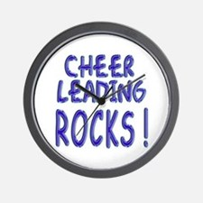 Cheer Leading Rocks ! Wall Clock