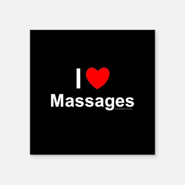 "Massages Square Sticker 3"" x 3"""