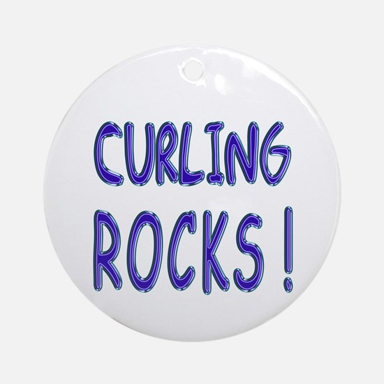 Curling Rocks ! Ornament (Round)