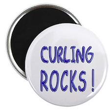 Curling Rocks ! Magnet