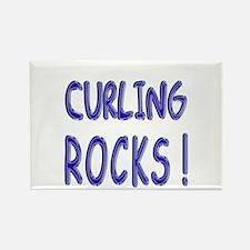 Curling Rocks ! Rectangle Magnet (10 pack)