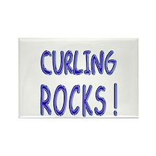 Curling Rocks ! Rectangle Magnet