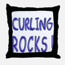 Curling Rocks ! Throw Pillow
