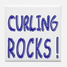 Curling Rocks ! Tile Coaster
