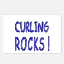 Curling Rocks ! Postcards (Package of 8)