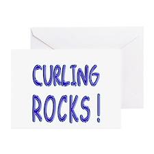 Curling Rocks ! Greeting Cards (Pk of 10)