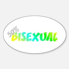 50 Percent Bi-Sexual Oval Decal