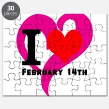 I Love Valentines Day February 14th Puzzle