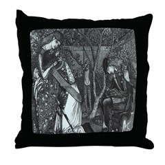 The Knight's Farewell Throw Pillow