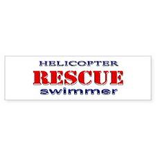 Helicopter Rescue Swimmer Bumper Bumper Sticker