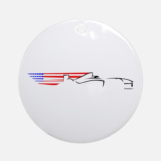 Formula 1 USA Ornament (Round)
